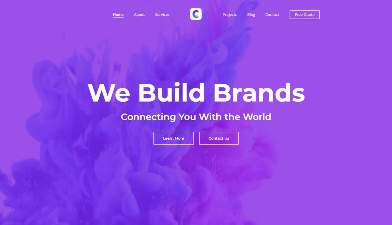 Caveni Digital Solutions Homepage Mockup