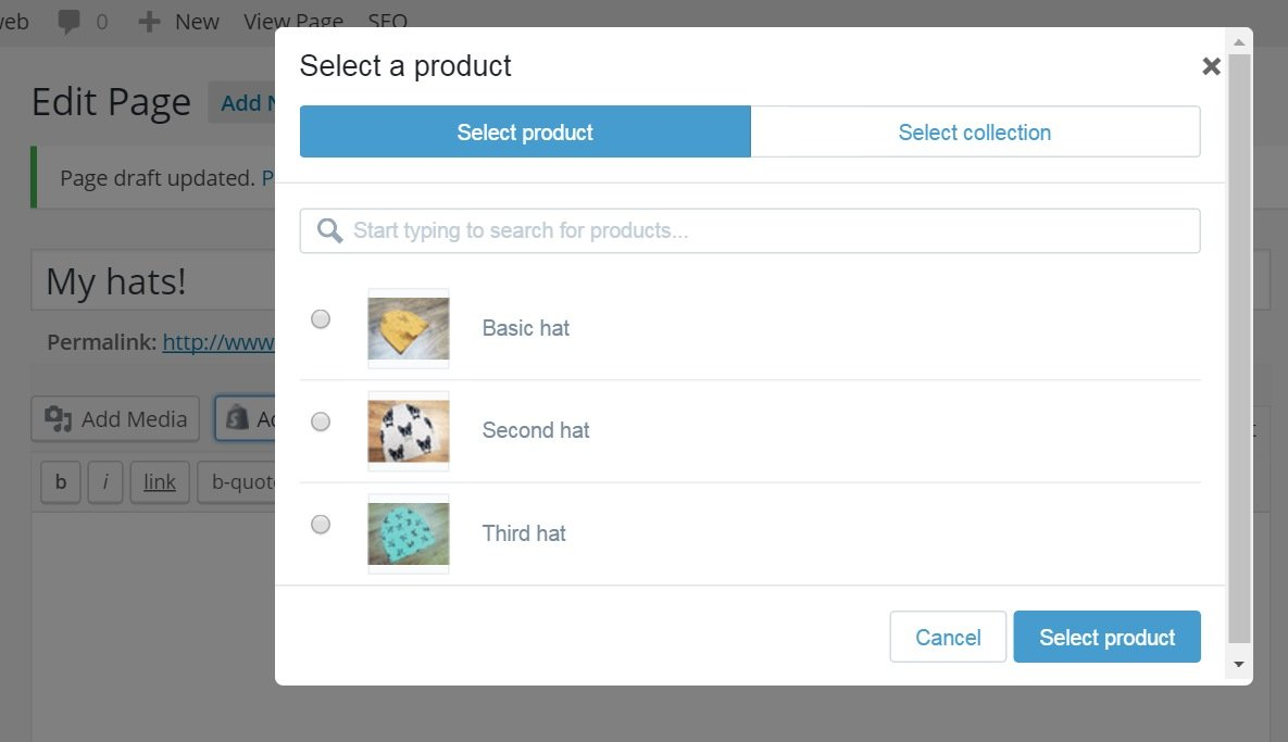 Adding Products to Your Product Page