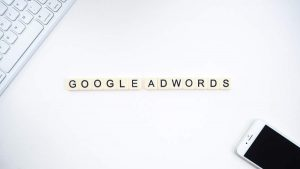 An image spelling out Google Adwords.